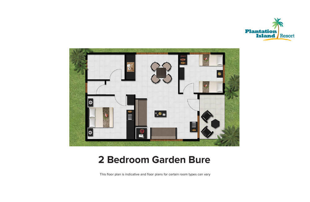 Bedroom Layout 2 Beds