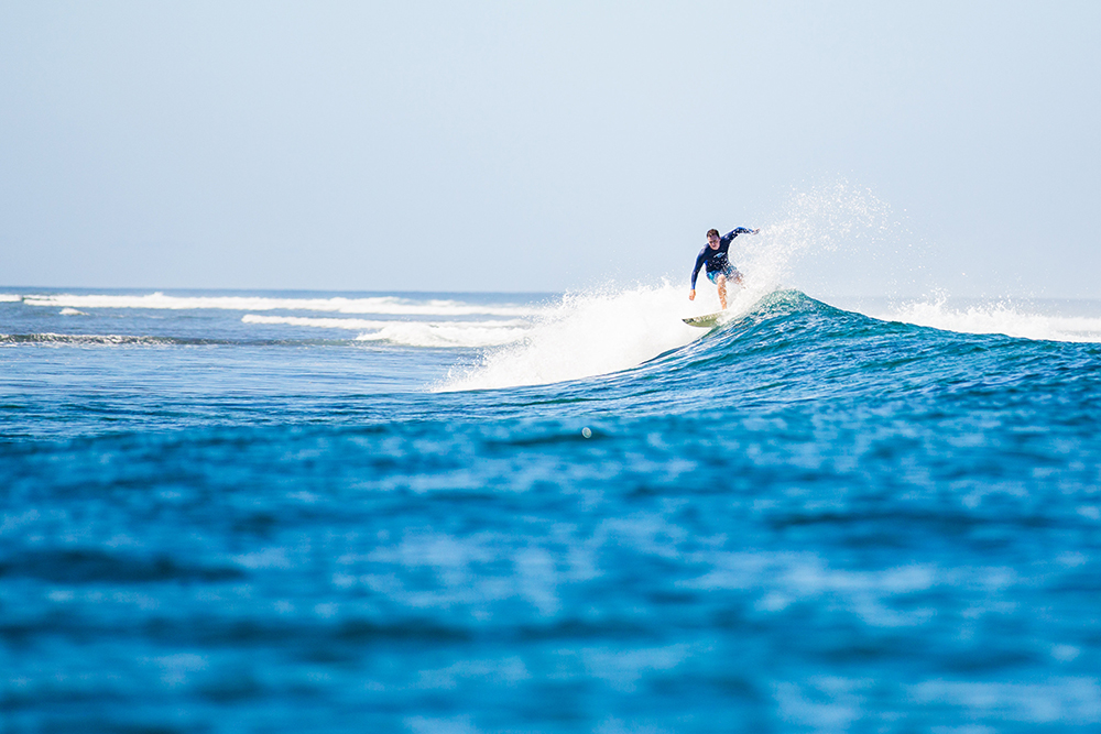 Experience a world-class surfing location in Fiji