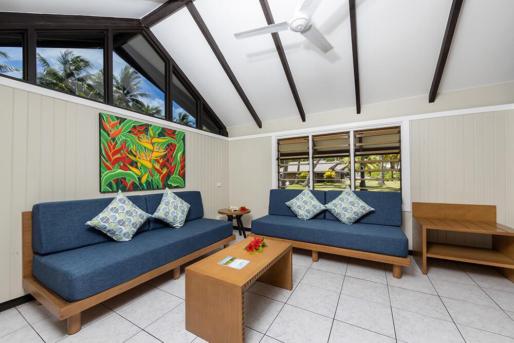 Different room categories at Plantation Island Resort